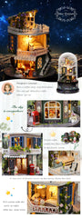 Dollhouse Miniature DIY Doll House With Furnitures Christmas house Toys For Children Birthday Gift with Dust Cover Music 30
