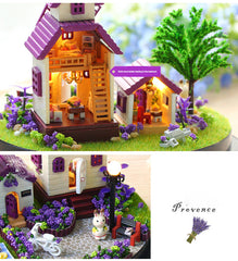 Doll House Miniature DIY Dollhouse With Furnitures Wooden House Toys For Children Birthday Gift