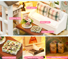 CUTEBEE Doll House Miniature DIY Dollhouse With Furnitures Wooden House Toys For Children Birthday Gift Z007