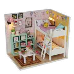 Doll House Miniature  With Furnitures Wooden House Stars Sky Toys For Children Birthday Gift