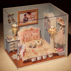 Furniture Miniatura Diy Doll Houses Miniature Dollhouse Wooden Toys For Children Grownups Birthday Gift