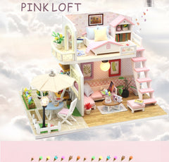 DIY Doll House Miniature Wooden Dollhouse Miniaturas Furniture Toy House Doll Toys for Gift Home Decor Craft Figurines