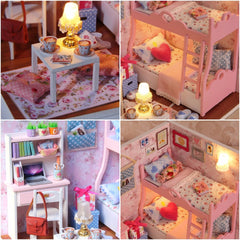 Doll House Furniture Miniature Dollhouse DIY Miniature House Room Box Theatre Toys for Children DIY Dollhouse