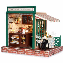 CUTEBEE Doll House Miniature DIY Dollhouse With Furnitures Wooden House Waiting Time Toys For Children Birthday Gift M027