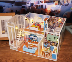 Cutebee Doll House Furniture Miniature Dollhouse DIY Miniature House Room Box Theatre Toys for Children DIY Dollhouse Njxw-B