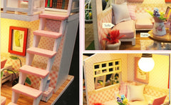 Cutebee Doll House Furniture Miniature Dollhouse DIY Miniature House Room Box Theatre Toys for Children stickers DIY Dollhouse K