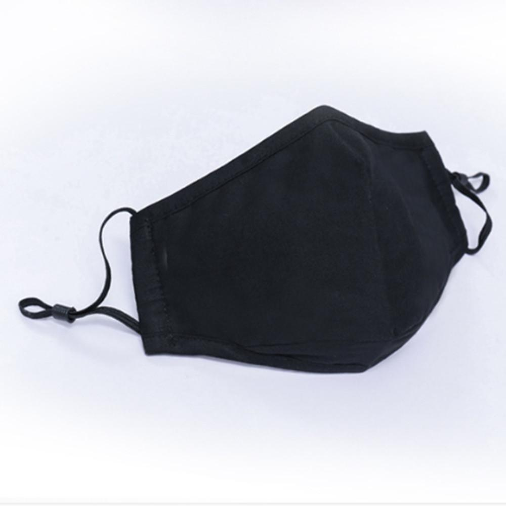 Generise Reusable Adjustable Face Mask with Filter Pocket and PM 2.5 Filter- Unisex- Black, Work Safety Protective Equipment by Generise