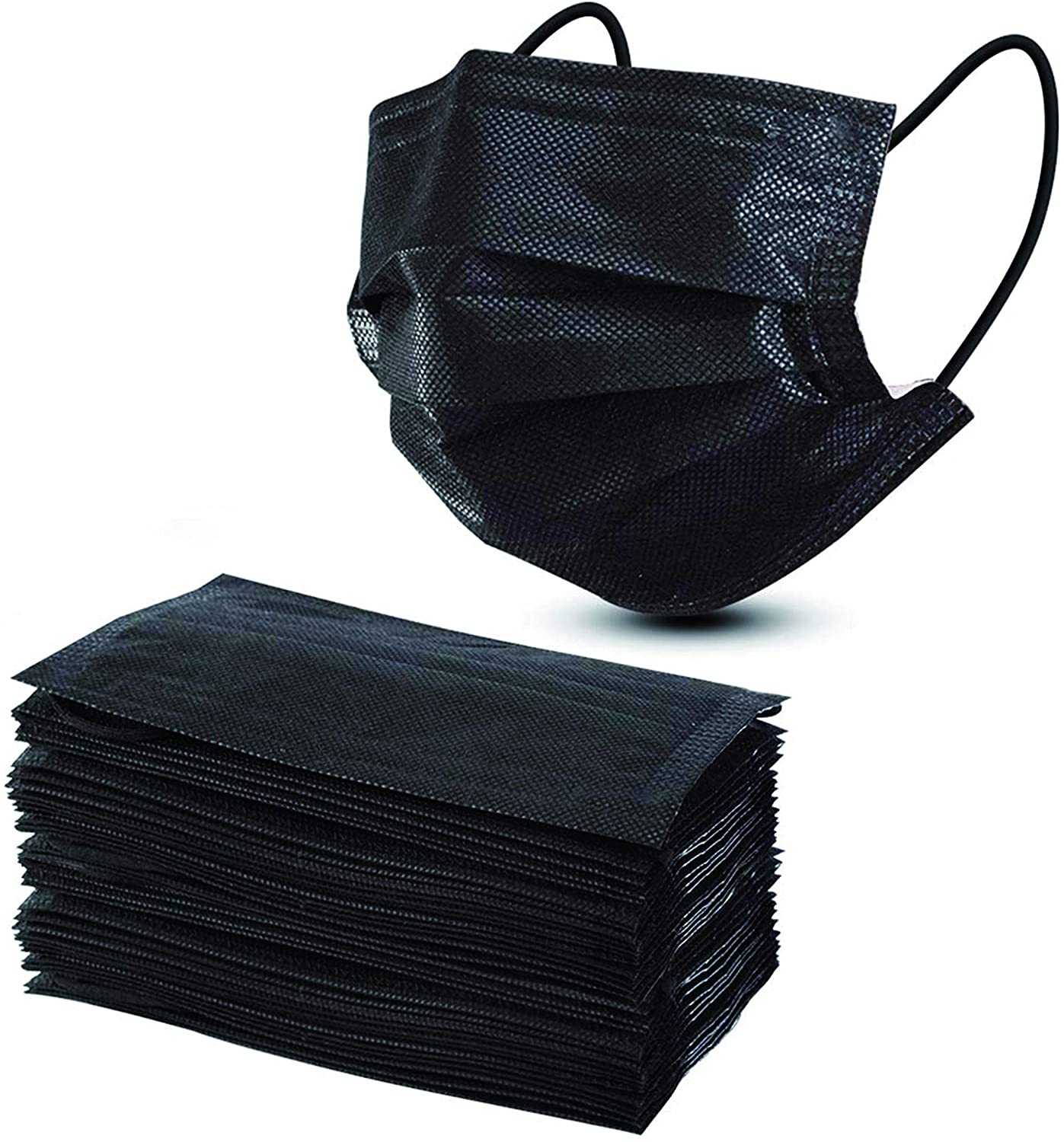 Generise Surgical 3 Ply Face Masks x10 - BLACK, Work Safety Protective Equipment by Generise