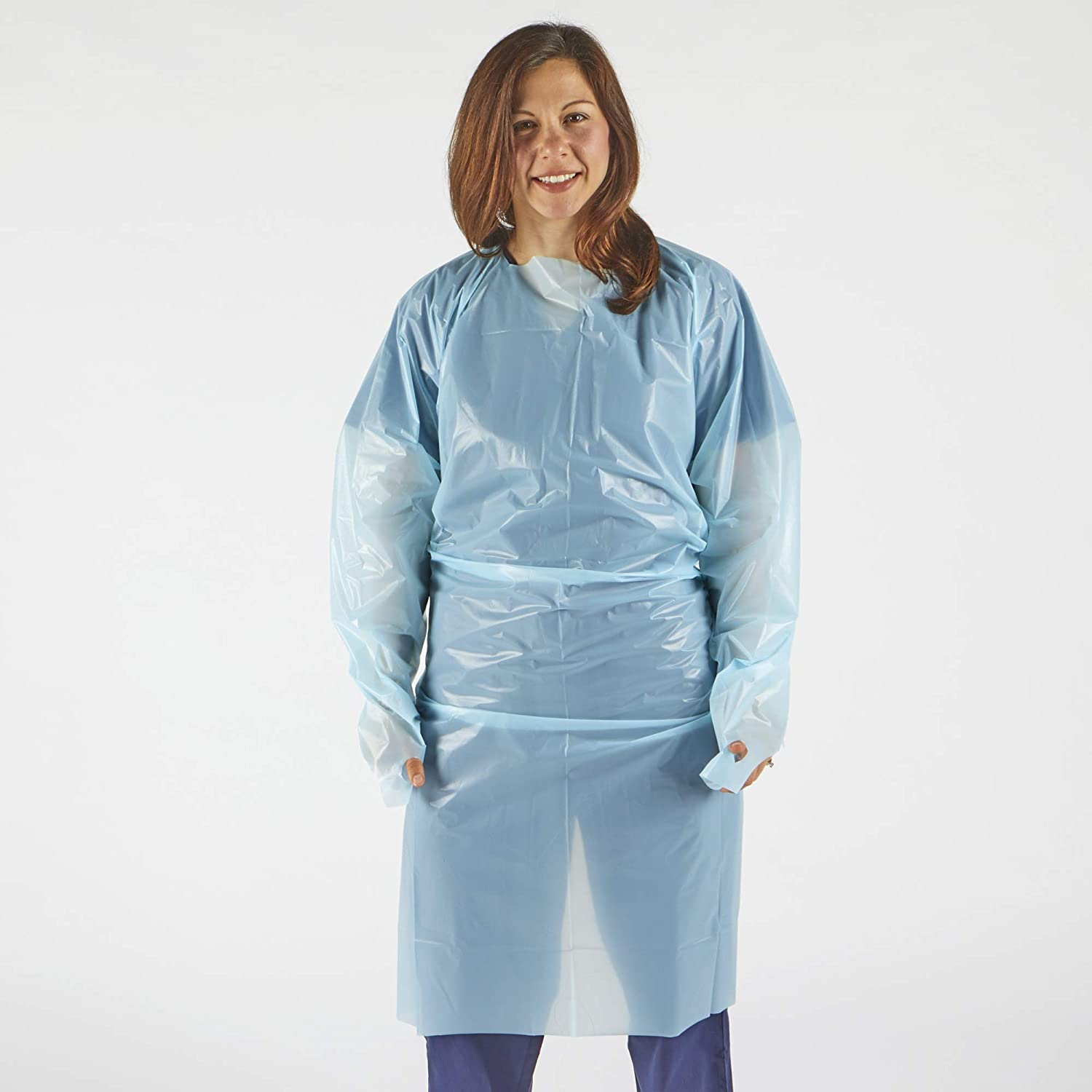 Generise Fluid Resistant Isolation Gown - Blue, Medical by Generise