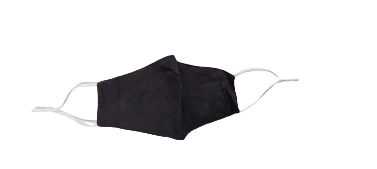 Generise Reusable Adjustable Face Mask with Filter Pocket - Black with White Ear Straps, Protective Masks by Generise