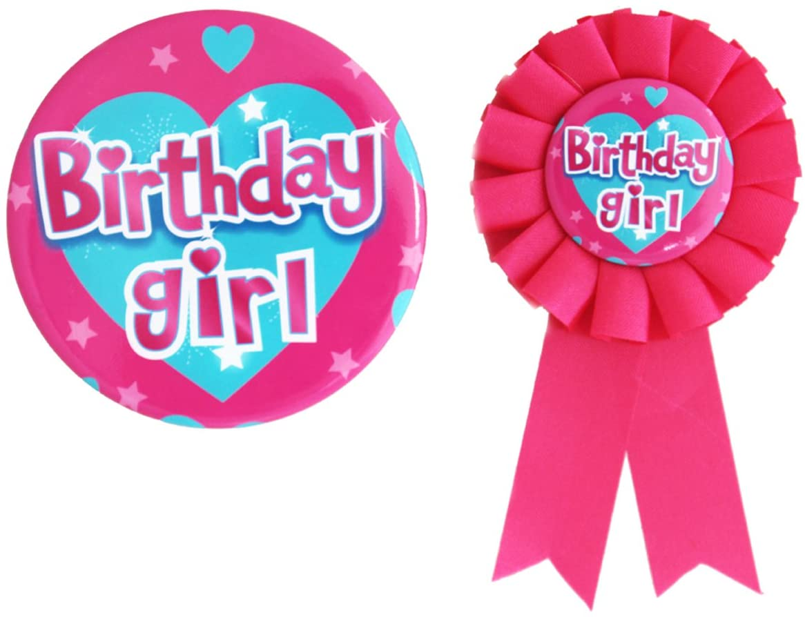 Birthday Badge Set - Boy or Girl, Party Supplies by Generise