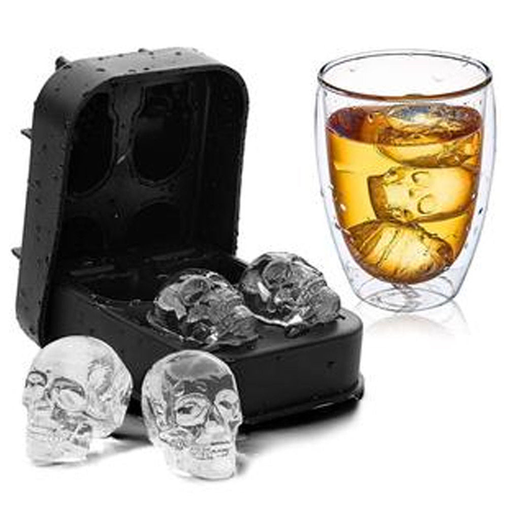3D Silicone Skull Shape Ice Cube Trays by  Generise