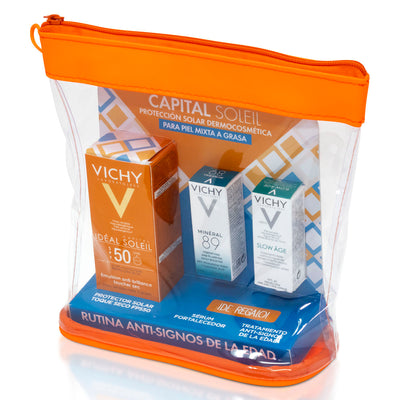 PACK CAPITAL SOLEIL FPS50 T/S 50ML+M89 3ML+ S. AGE 3ML+COSMETIQUERA