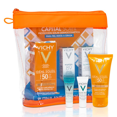KIT CAPITAL SOLEIL 50+ DRY TOUCH C/C 50ML+M89 3ML+S. AGE 3ML