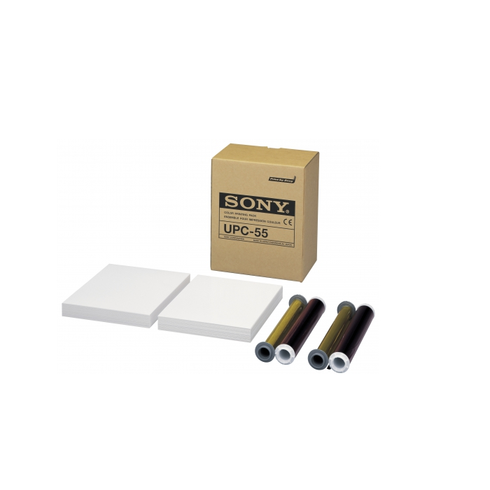 Papel y ribbon para impresora Sony UPC-55 178 MM x 152 MM