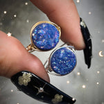 Blue Aura Druzy Ring