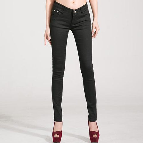 Jeans Rouge Stretch - Noir / 34/35