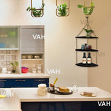 VAH Wall Hanging Shelf, Black  Wood Floating Shelves