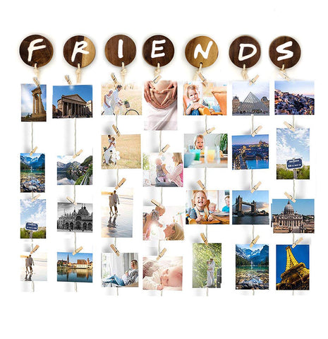 VAH Friend Hanging Photo Display Picture Frame Collage Picture Display