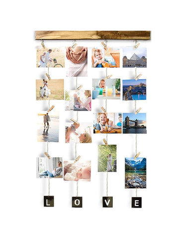 VAH Hanging Photo Display Picture Frame Collage Picture Display  (Love)
