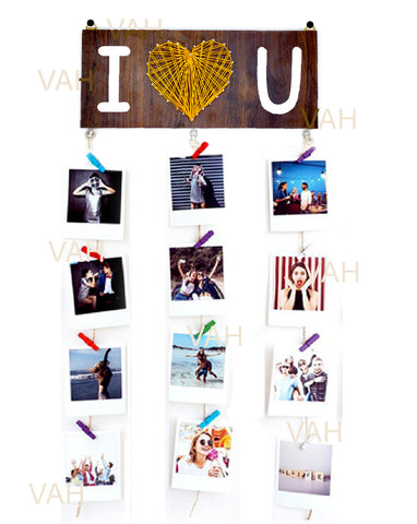 VAH I Love U Hanging Photo Display Picture Frame Collage Picture Display