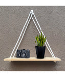 VAH Wall Hanging Shelf, 1 Real Pine Wood Floating Shelves