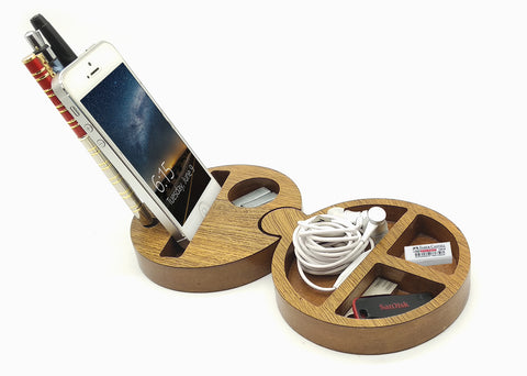 VAH Small Docking Station and Mobile Stand (Wooden)