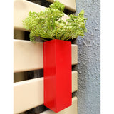 VAH Red Magnetic Hydroponic or Artificial Plants Holder for Refrigerator Kitchen Counter  ( Hanging or Lay Flat)