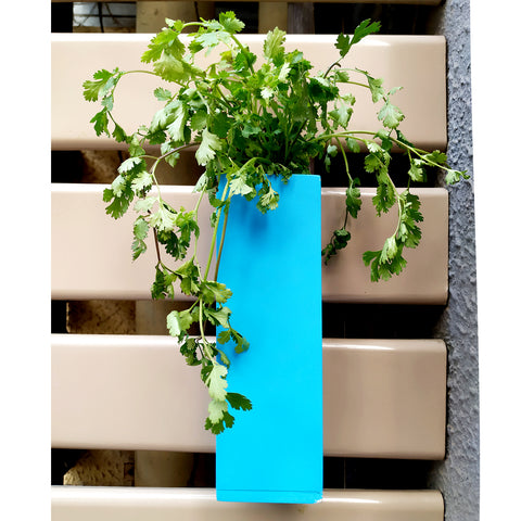 VAH Blue Magnetic Hydroponic or Artificial Plants Holder for Refrigerator Kitchen Counter  (Hanging or Lay Flat)