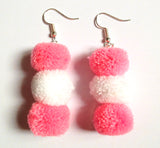 VAH latest 2 colours pom pom trendy earring jewellery collection  For Women