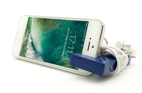 VAH Keychain with earphone & Mobile Stand (Blue)