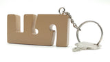 VAH Keychain with earphone & Mobile Stand(Brown)