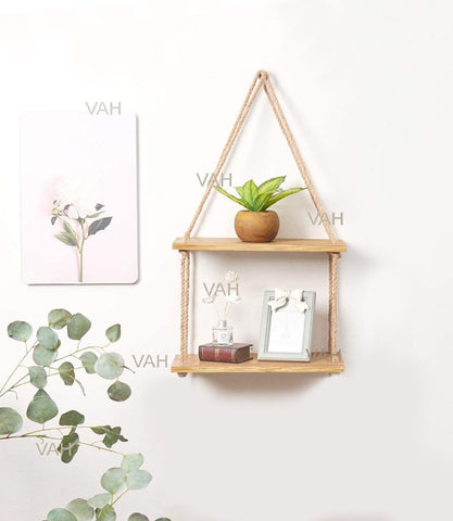 VAH Wall Hanging Shelf, Real pine Wood Floating Shelves
