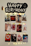 VAH Happy Birthday Wooden Hanging Photo Display with led light