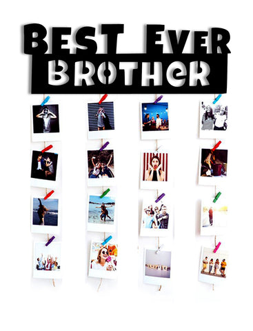 VAH best Brother ever wooden Hanging Photo Display