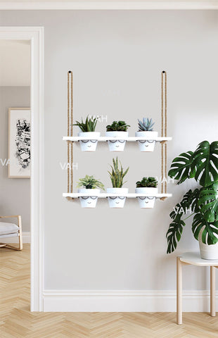 VAH Wood Hanging Planter Shelf Plant Hanger