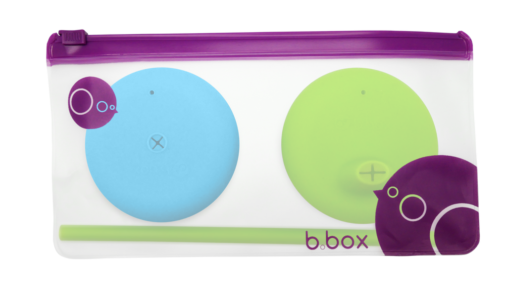 B.Box Silicone Lids Travel Pack - Ocean Breeze (Online Exclusive)