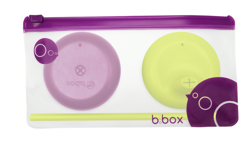 B.Box Silicone Lids Travel Pack - Passion Splash (Online Exclusive)