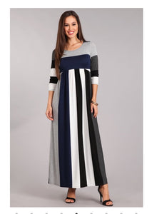 S-L Navy/White/Gray Maxi