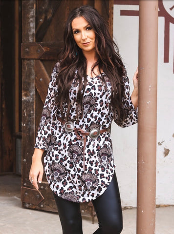 Leopard & Indian Steerhead Tunic