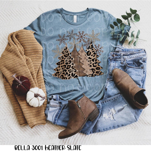 Leopard & Tan Xmas Trees