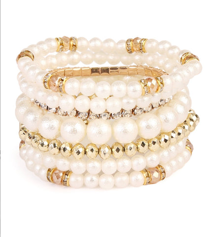 Pearl Bead Multilayer Bracelet
