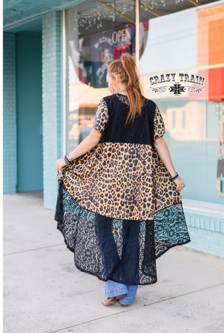 Leopard & Lace Duster
