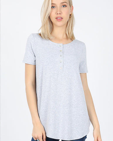 Button Top Short Sleeve Tee