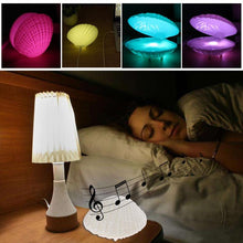 Load image into Gallery viewer, Audio Shell Night Light LED Lamp with Bluetooth Speakers! ONLY A FEW LEFT!
