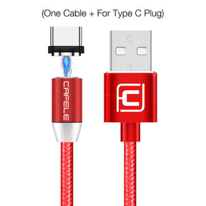 LED Magnetic Cable for Type C Android & Lightning Cable