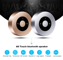 Load image into Gallery viewer, LED Touch Design Portable Mini Bluetooth Speaker