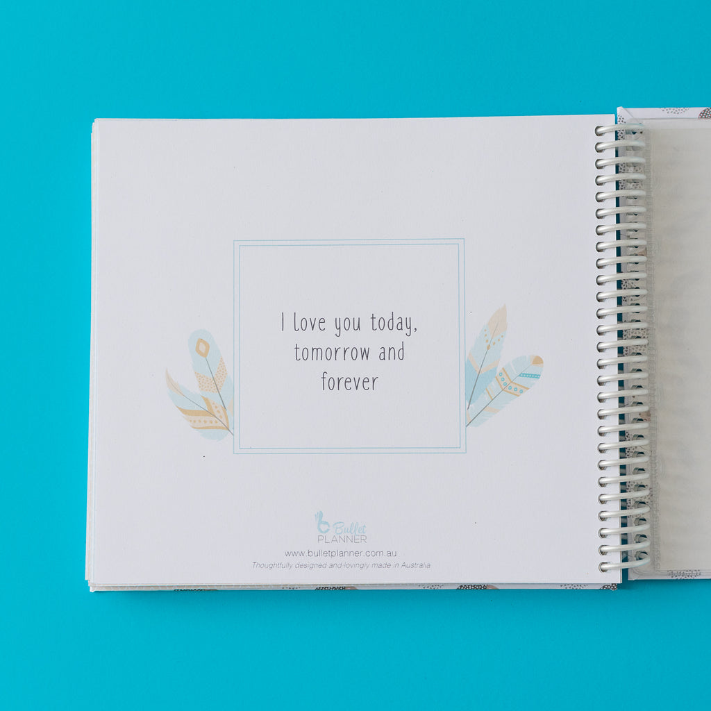 Customised baby memory books
