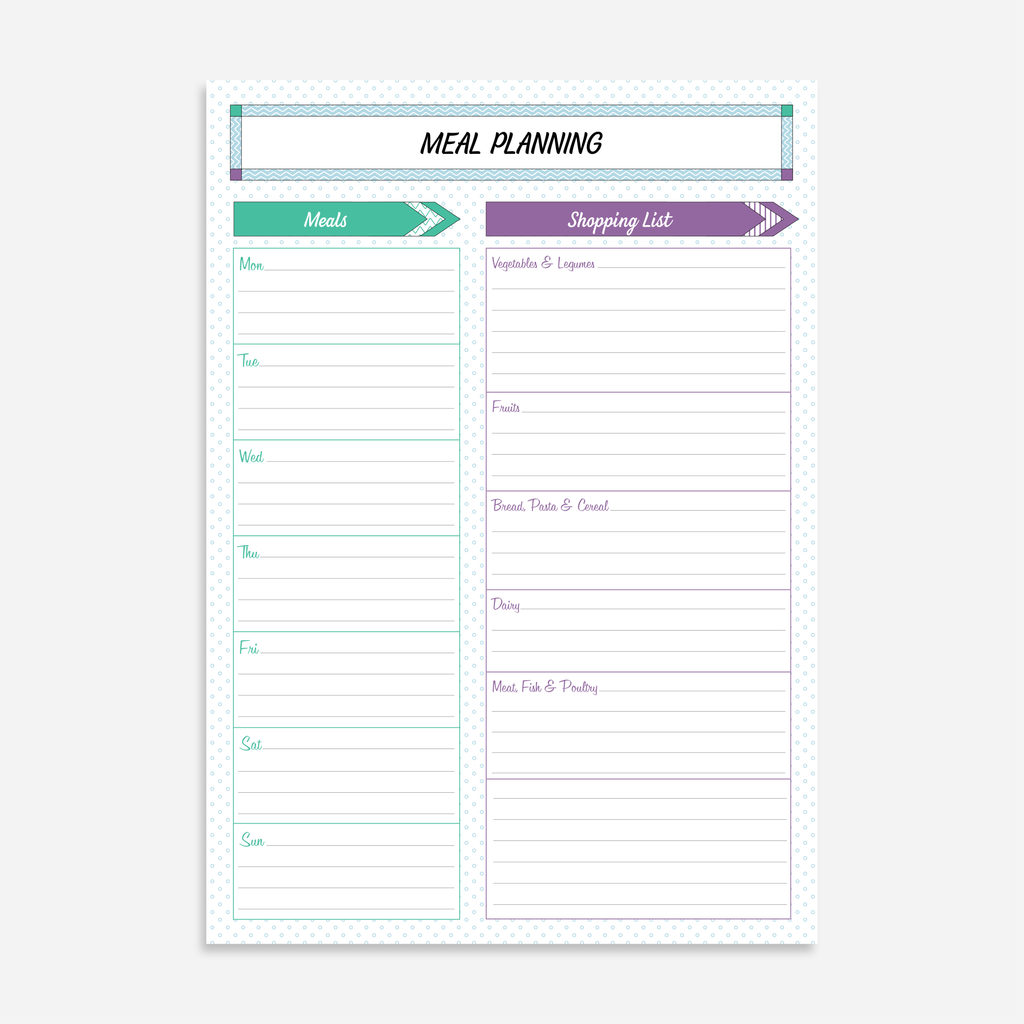 Meal Planning A5 Notepads