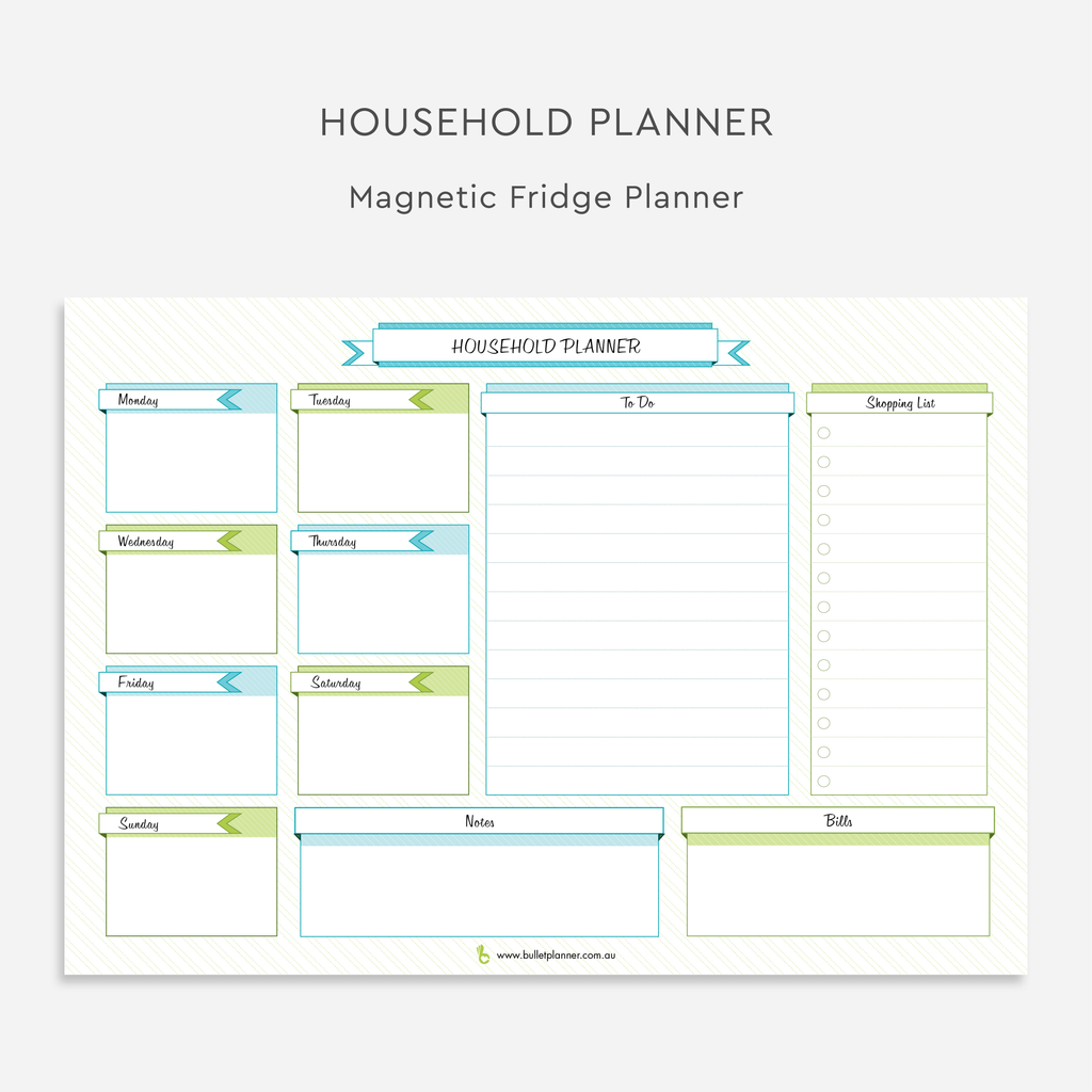 Magnetic Household Planner